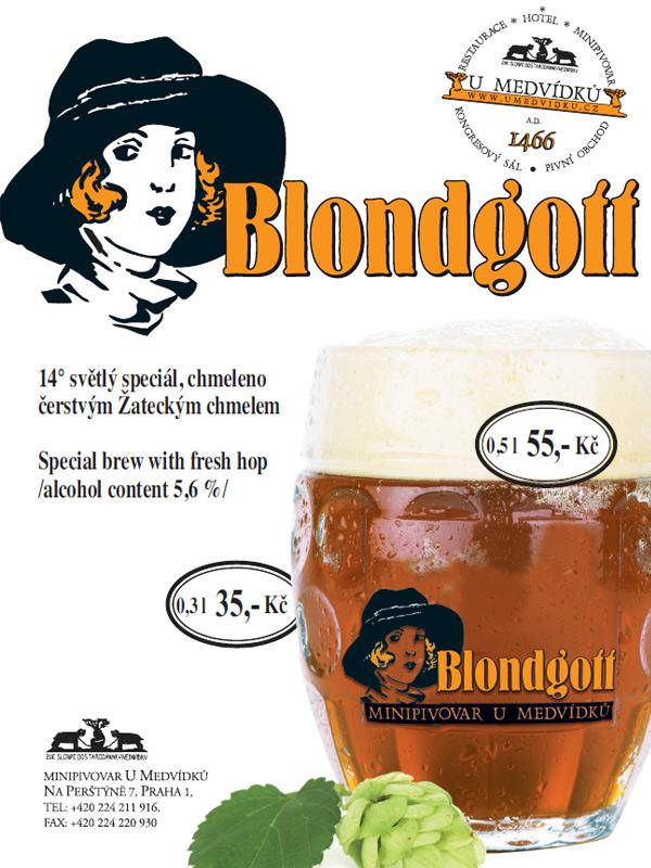 Blondgott - pivo z pivovaru U Medvídků