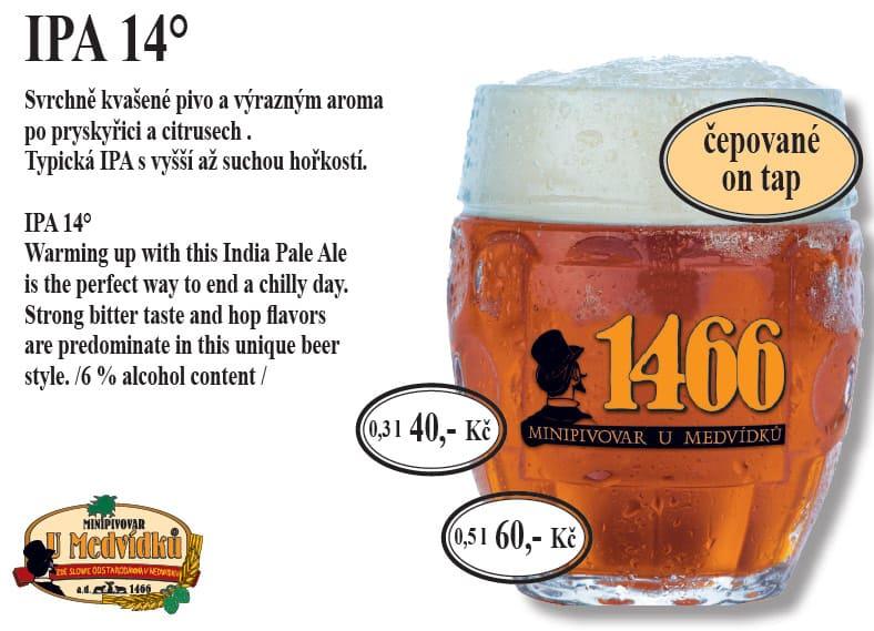 U Medvídků - pivo IPA