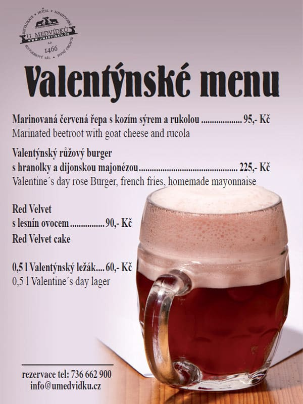 Valentýnské menu 2020