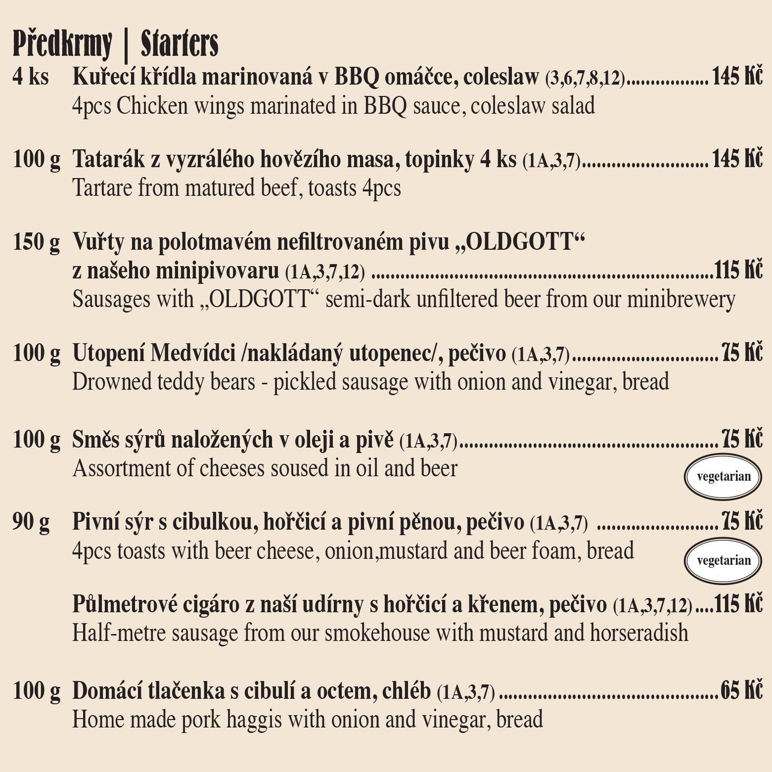 Tradiční česká restaurace v centru Prahy U Medvídků